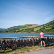 mountain bike ride in the Brecon Beacons National Park, Wales.